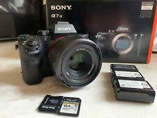 Sony Alpha a7S II 12.2 MP Digital SLR Camera W/ Lens, Batteries, & SD Cards