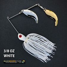 Bassdozer spinnerbaits WHIPTAIL 3/8 oz D. WHITE spinner bait bass fishing lures
