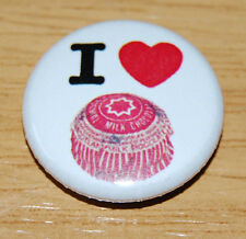 """I LOVE TUNNOCKS TEACAKES"" 25MM BADGE RETRO KITSCH SCOTLAND SCOTTISH CARAMEL"