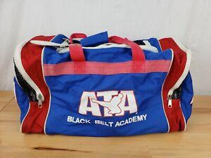 "Taekwondo ATA Black Belt Academy Duffle BAG. (PreOwned) Red White And Blue 21"""
