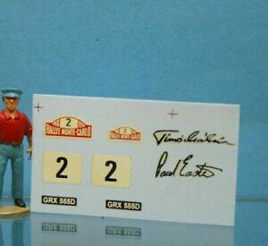 ** DEC293 - Corgi Toys 321- Décal pour Minicooper Monté Carlo N°2
