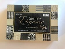 "The Paper Studio Cardstock Simple Elegance 80 Sheets  4.5"" x 6.5"""