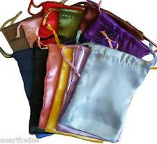 12 x SATIN POUCHES ASSORTED COLOURS 127 x 101 mm Wicca Witch Pagan Goth 12 xBAGS