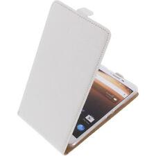 Funda para Alcatel A3 XL protectora Teléfono Móvil con tapa blanco