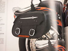 HARLEY-DAVIDSON NOS DETACHABLE LEATHER SADDLEBAGS-'00-LTR SOFTAIL-90384-04