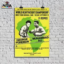 POSTER Vintege Muhammad Alì George Foreman pugilato ring boxe sport Cassius Clay