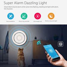 Smart WIFI APP 2 in 1 Siren Alarm Temperature Sensor Detector Home Security