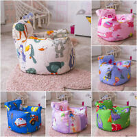 Childrens Bean Bag Chair Cover Kids Tub Cup Seat Play Beanbag Bedroom Soft Toy