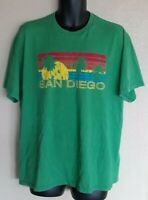 Vintage Style Graphic San Diego Green Tee T-Shirt Extra Large XL
