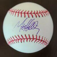 Matt Holiday Signed Auto OML Rawlings Baseball Mounted Memories HOLO Cardinals