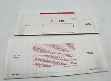 US WWII V Mail red and white stationary pages set of 2 Repro  Z2208