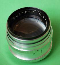 Jupiter-3 ultra fast 1.5/50mm lens in Leica M39 screw mount – excellent & highly