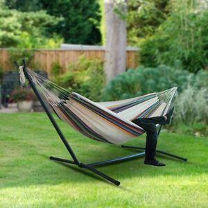FP- Outdoor Travel Courtyard Stripe Hammock Swing Hanging Sleeping Bed Garden Ch