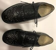 Wanted Shoes Women Stud Oxfords, Black Patent, Size 11 US.  Used Good Condition.