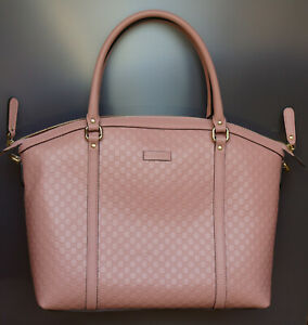 Gucci soft Pink Bag Crossbody Microguccissima Leather Women Tote 449658BMJ1G