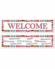 INTERNATIONAL WELCOME BANNERS PARTY DECORATIONS AUSTRALIA USA ITALY BANNER SIGNS