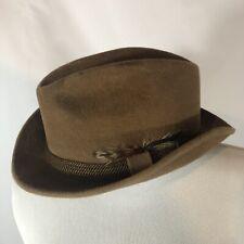 acdf994d New ListingVintage Chapeau Fletchet Hat Fedora Feather Genuine Velour  Imported Furs Size 7