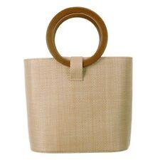Women's Solid Straw Bucket Bag Tote Handbags Shoulder Bags Big Top Handle B K2O4