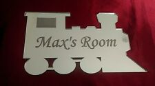 Personalised Door Name Acrylic Plaque Boy Girls Bed Room Sign Child