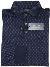 NEW $110 Polo Ralph Lauren Long Sleeve Navy Blue Shirt Mens Custom Slim Fit NWT