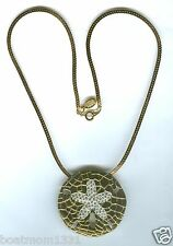 """Joan Rivers Crystal Sand Dollar 18"""" Shiny GT Necklace ~ A Stunning Gift!"""