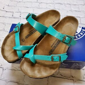 Birkenstock Womens Size US  7.5 EU 38 Mayari Graceful Emerald Sandals