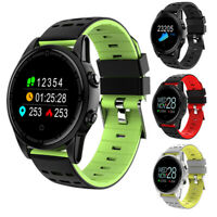 Water Resistant Sport Smart Watch Blood Pressure Heart Rate Monitor iOS Android
