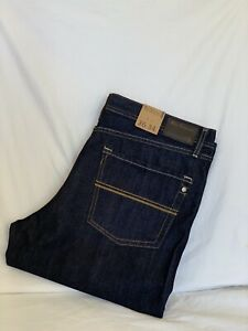 Ben Sherman RELAXED FIT Straight  Dark Rinse Denim Jeans Mens W36 L34(BS1829)NEW