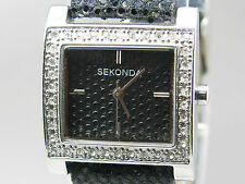 Genuine Leather Band Casual Square Wristwatches