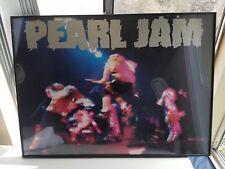 Pearl Jam Poster Framed Rock Ban Concert  Eddie Vedder 36x26