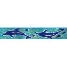 LUPINE DOG COLLAR MEDIUM LARGE 15-25 INCH NECK X 3/4 INCH WIDE DOLPHIN BAY