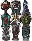 """Halloween Tombstone 17"""" Superhero RIP Yard Signs Decorations with Plastic"""