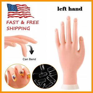 1 Pack Nail Art Training Hand Flexible Movable Fake Hand Manicure Practice Tool