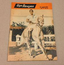 RICARDO MONTALBAN HORSE FRONT COVER PAUL WESTON BACK COVER Danish Magazine 1954