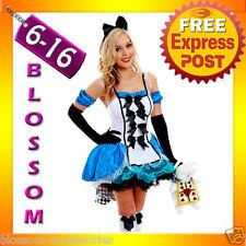 G12 Ladies Alice In Wonderland Fancy Dress Halloween Outfit Disney Theme Costume