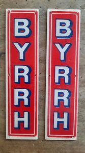 2 Anciennes Plaques de proprete BYRRH  cuisine bar