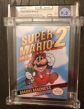 Super Mario Bros 2 Nintendo NES WATA Graded 9.2 A H-Seam New Factory Sealed