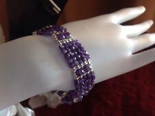 """Natural Amethyst Bracelet Size 7.75"""" Genuine"""