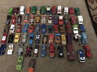 Lot of 65 Hot Wheels Matchbox & Misc Cars Diecast & Plastic