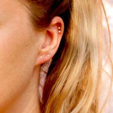 SUPER SMALL TINY MINIMALISTIC SMART FAUX CRYSTAL CUBIC ZIRCONIA STUD EARRINGS