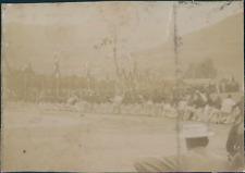 France, Tir-à-la-corde par les troupes ca.1897 vintage citrate print Vintage cit