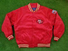 Vintage San Francisco 49ers STARTER Satin Bomber Jacket NFL Size L Red