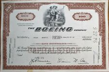 Boeing Company 1970 Aviation / Airplane Stock Certificate - Brown