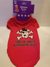 HALLOWEEN PIRATE THEME DOG T-SHIRT~PERFECT FOR HALLOWEEN