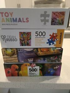 Large Lot of 500 Piece Quality Jigsaw Puzzles