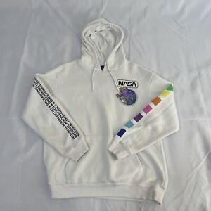 Hyper Space NASA Graphic Pullover Hoodie Sweatshirt Unisex Men's Medium