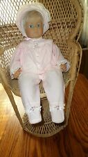 "Pat Secrist 1987 Blond Hair Blue Eye 20"" Baby Girl Doll w Soft Body"