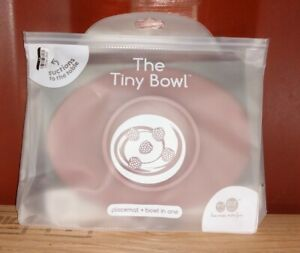 ezpz Tiny Bowl BLUSH- 100% Silicone Suction Placemat and Bowl 4+ Months Baby