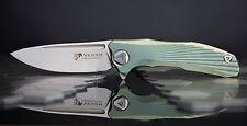 VENOM Knives New Concept Tactical Flipper Folding Knife S35VN Blade Green Handle
