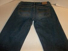 Womens Size 2L Abercrombie & Fitch 1892 Flare Leg Denim Blue Jeans Button Fly